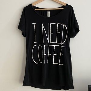 Graphic Coffee Lounge Tee / Forever 21 Oversized